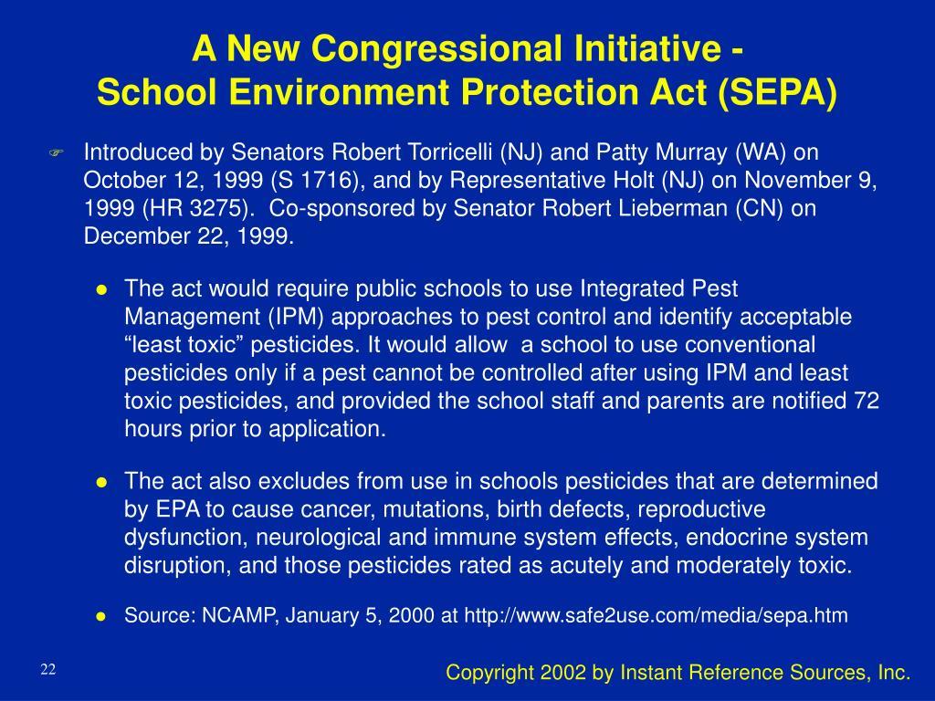 A New Congressional Initiative -