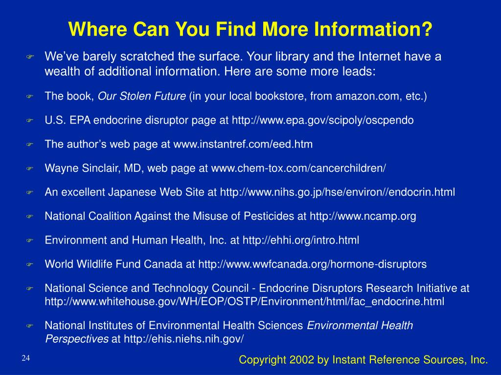 Where Can You Find More Information?