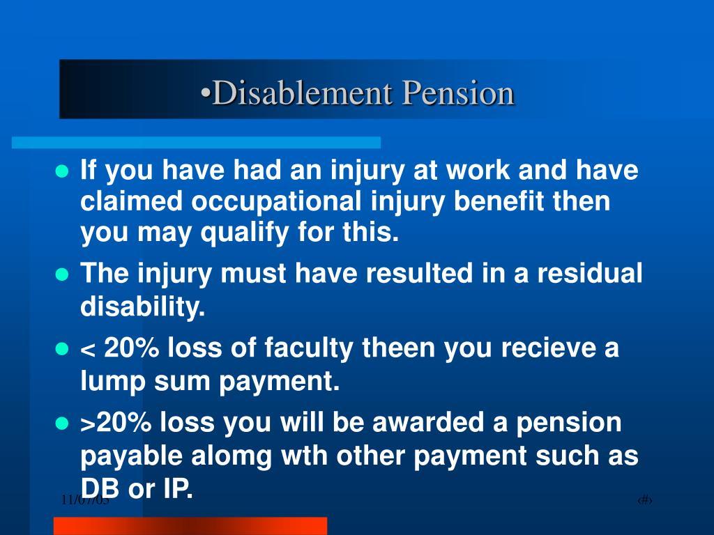 Disablement Pension