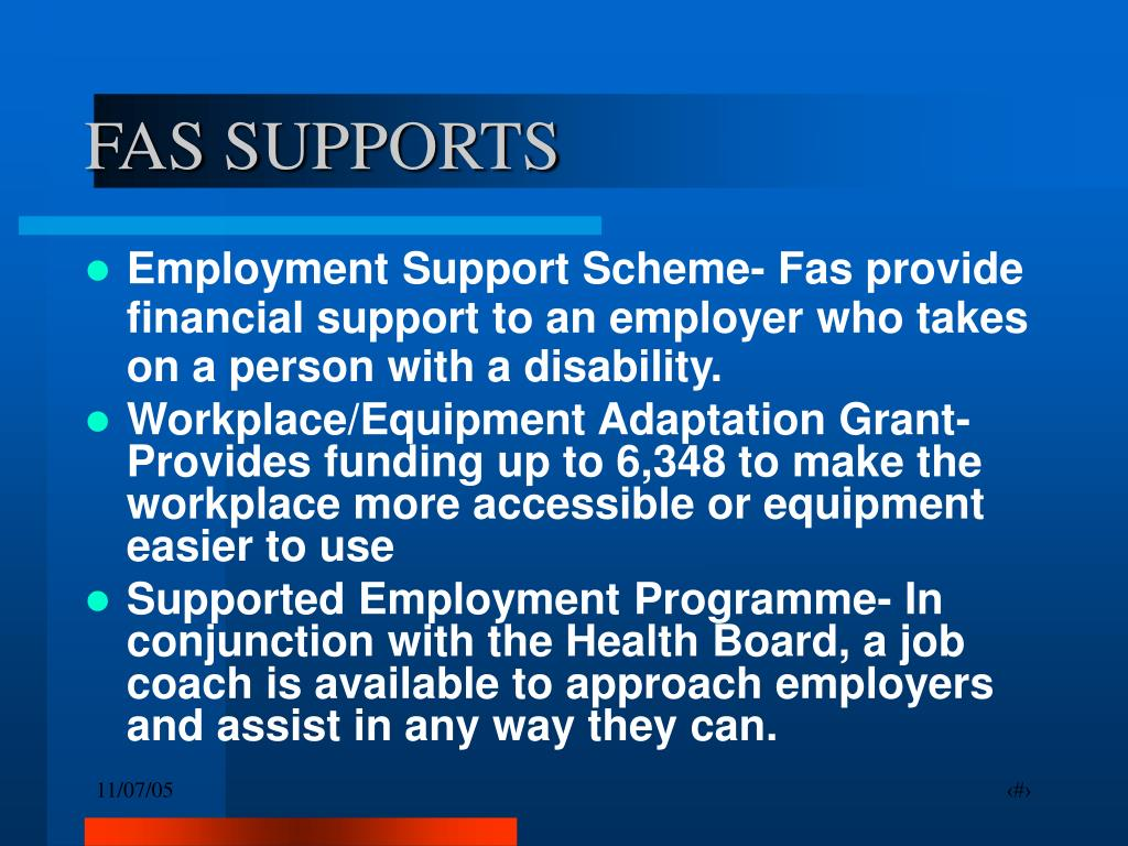 FAS SUPPORTS
