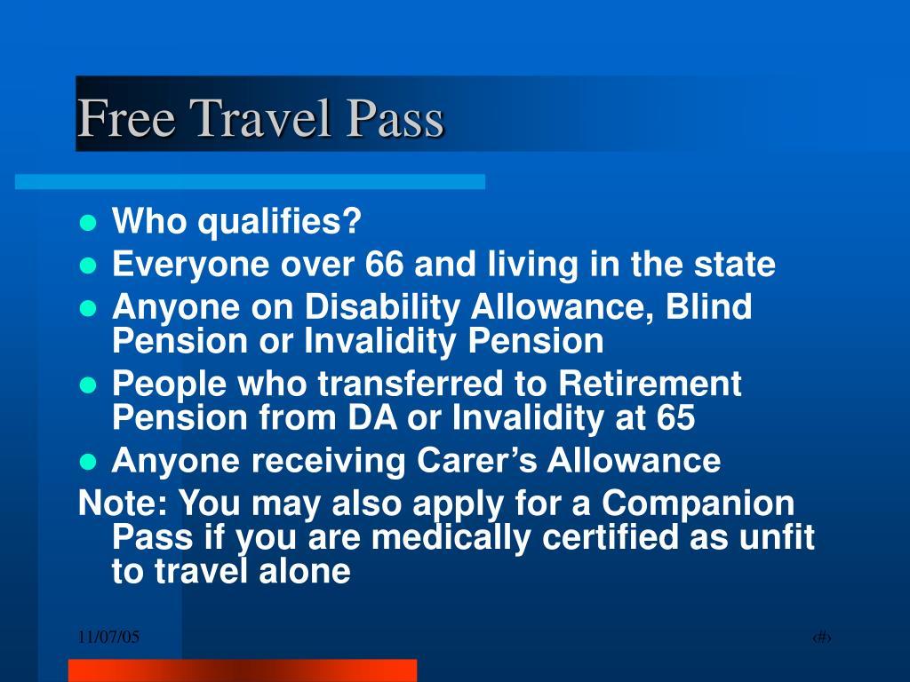Free Travel Pass