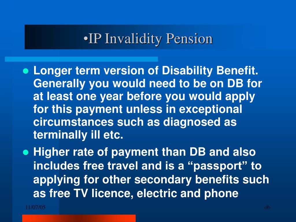 IP Invalidity Pension