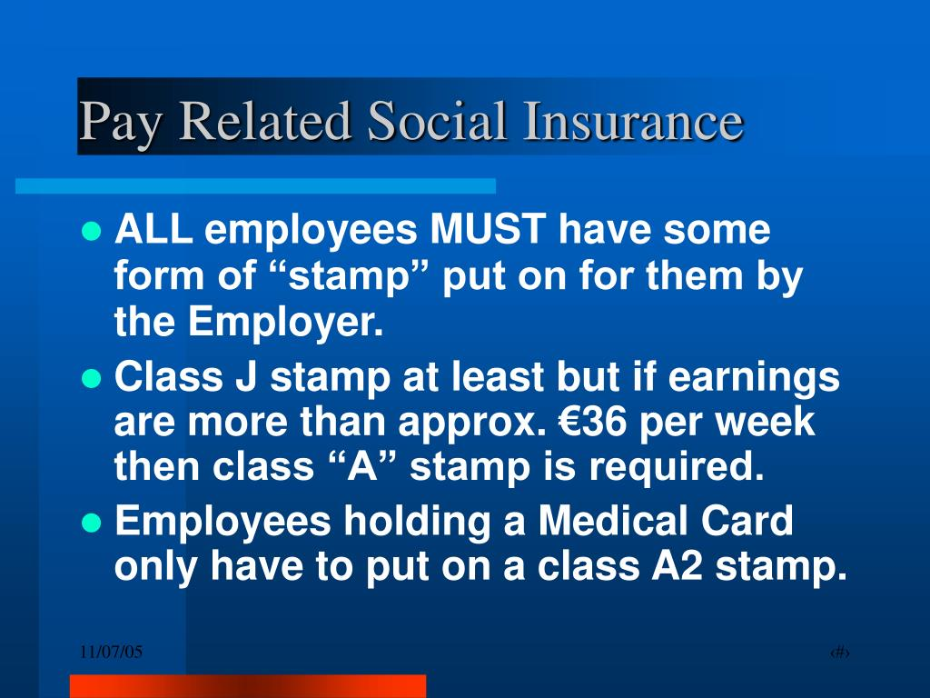 Pay Related Social Insurance