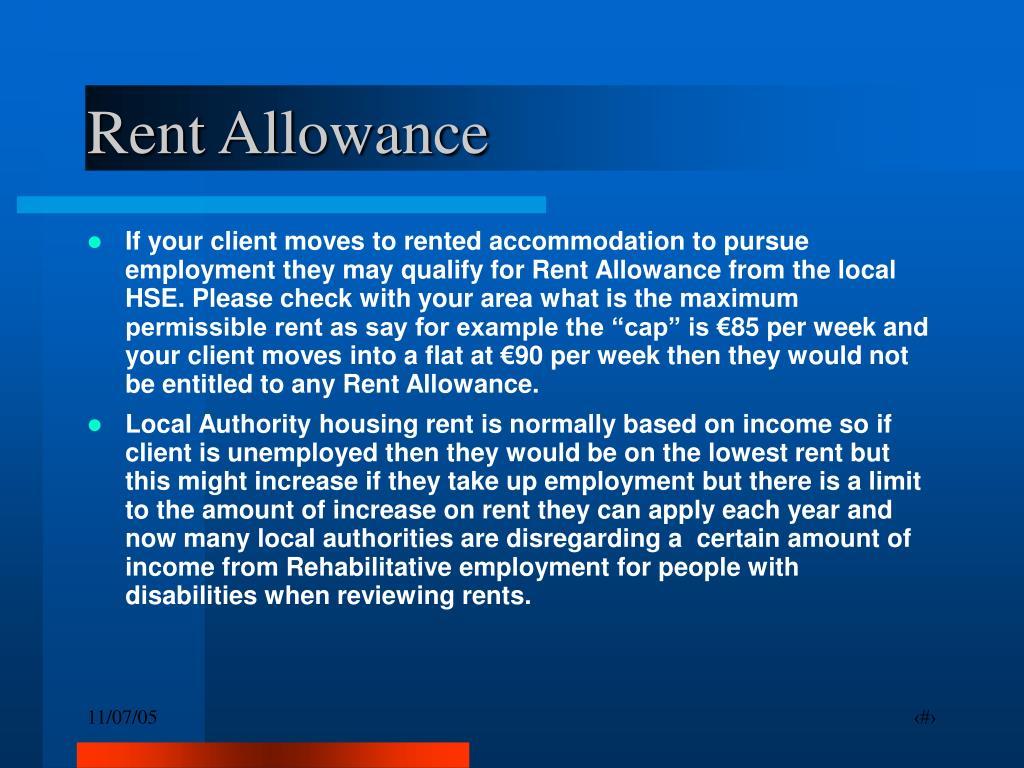 Rent Allowance