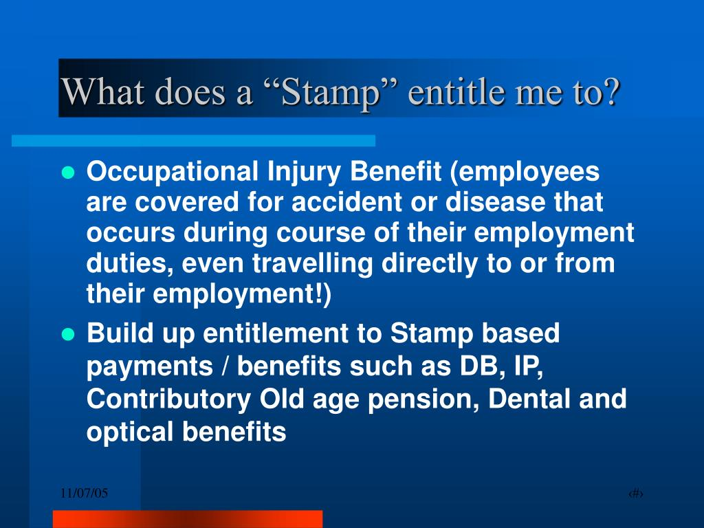 """What does a """"Stamp"""" entitle me to?"""