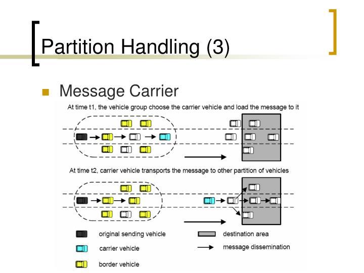 Partition Handling (3)