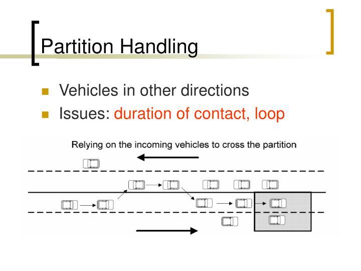 Partition Handling