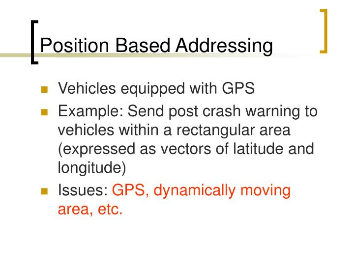 Position Based Addressing