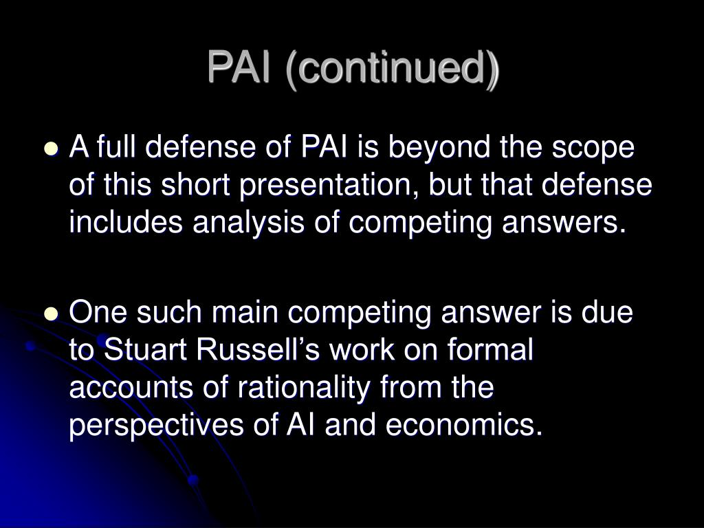 PAI (continued)