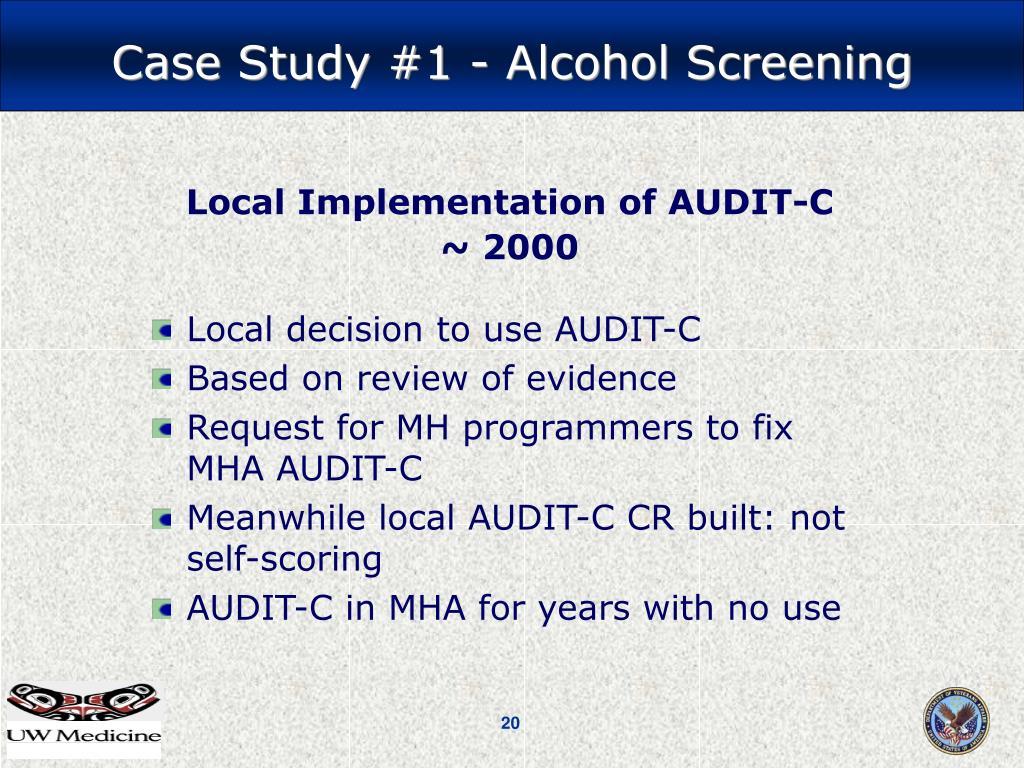 Local Implementation of AUDIT-C