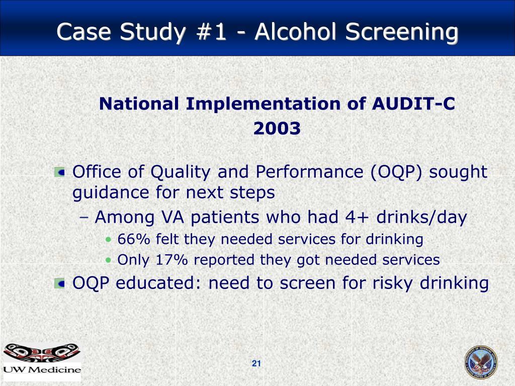 National Implementation of AUDIT-C