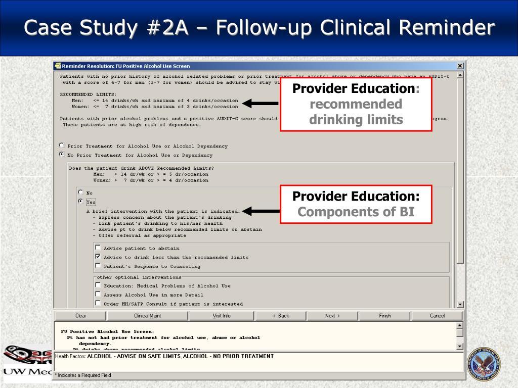 Case Study #2A – Follow-up Clinical Reminder