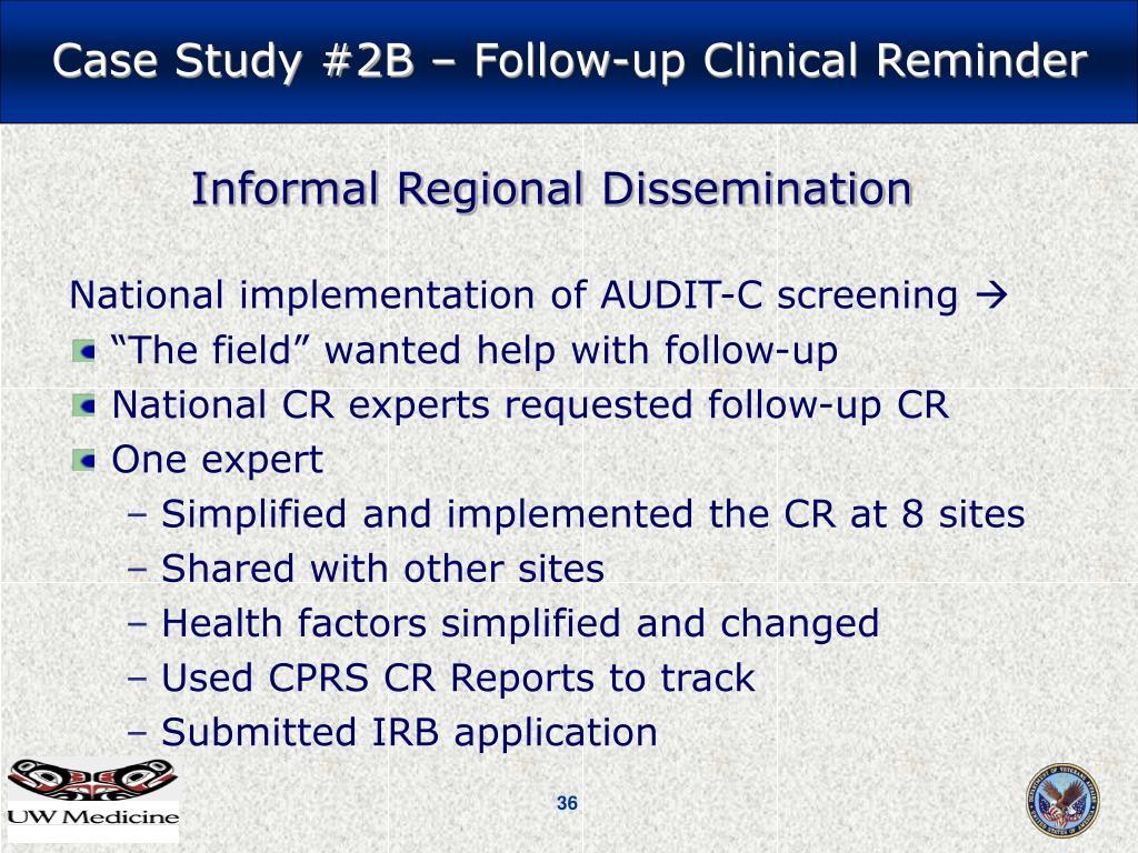 National implementation of AUDIT-C screening
