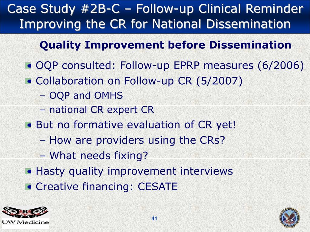 Case Study #2B-C – Follow-up Clinical Reminder