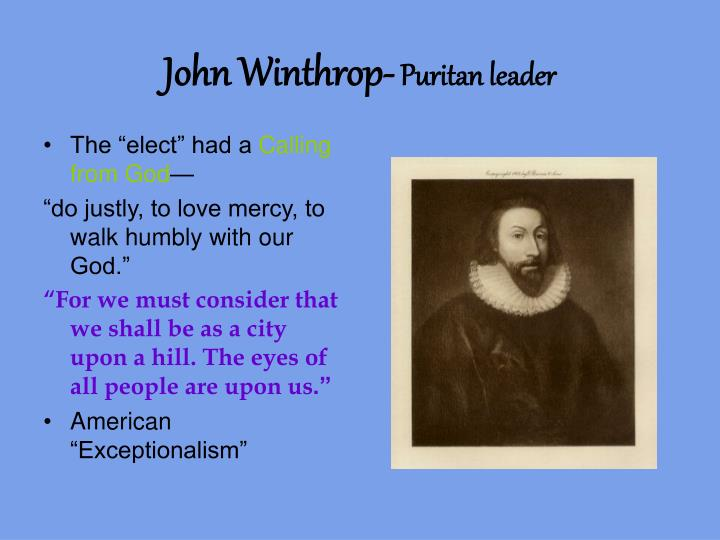 John winthrop puritan leader