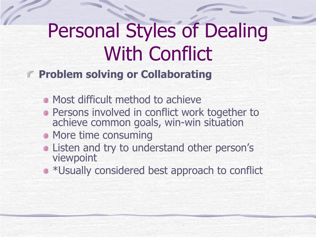 case involving interpersonal conflict educational pension investments Case involving interpersonal conflict educational pension investments 1 there are two sources of conflict presented in this case the first is personal differences.