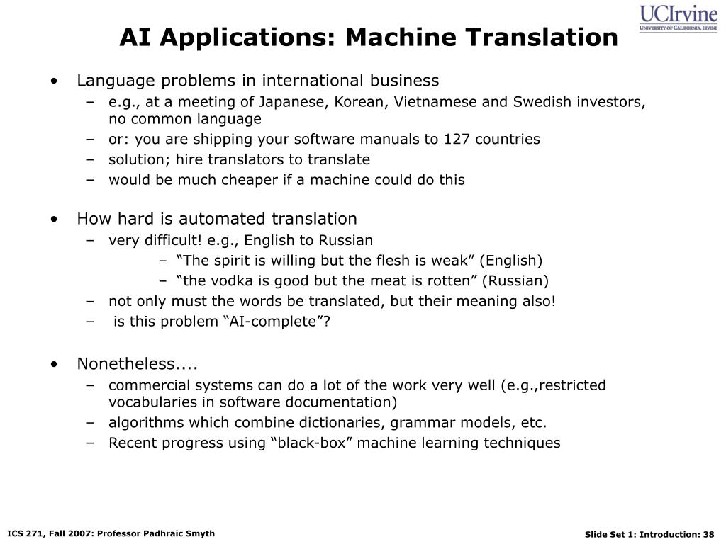 AI Applications: Machine Translation