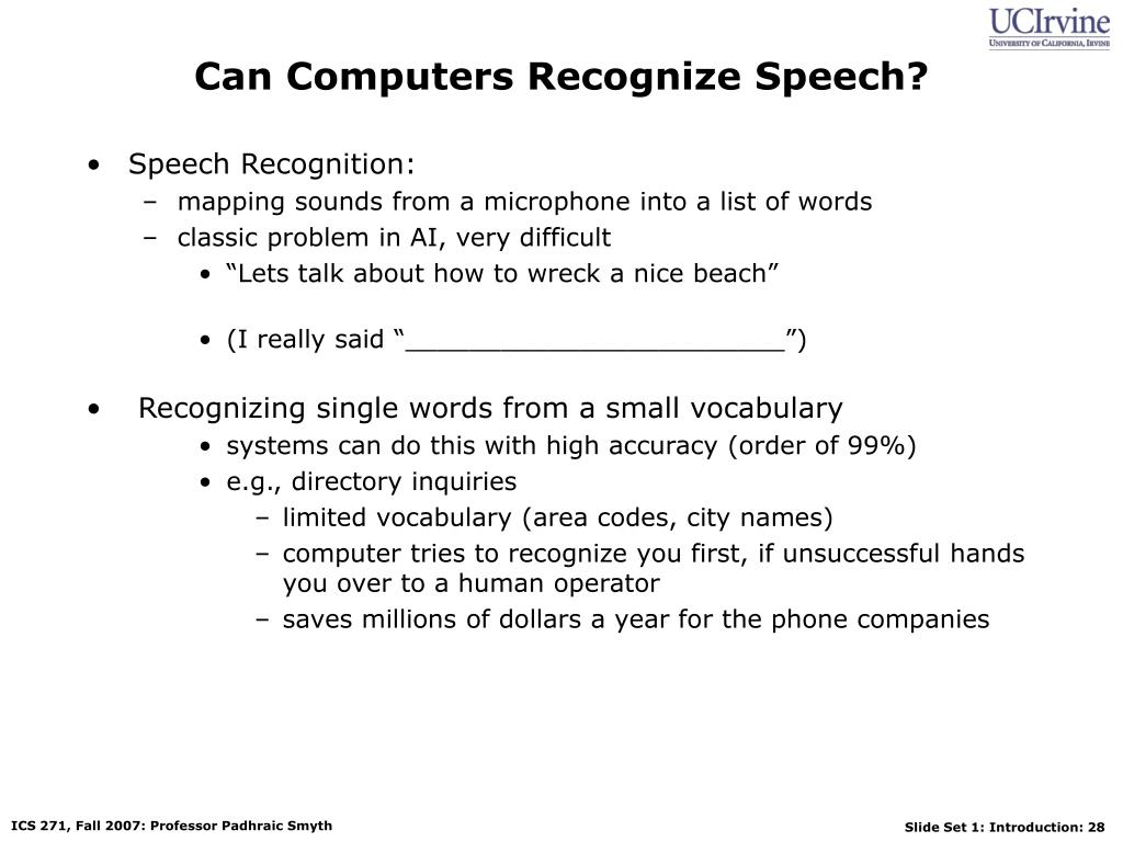 Can Computers Recognize Speech?