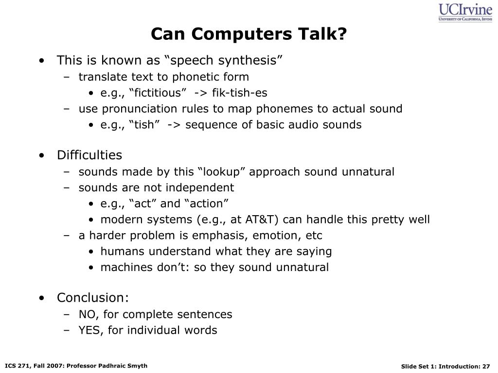 Can Computers Talk?