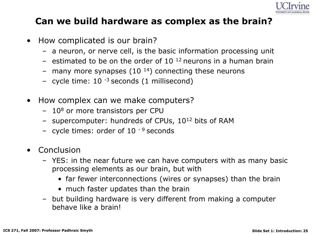 Can we build hardware as complex as the brain?