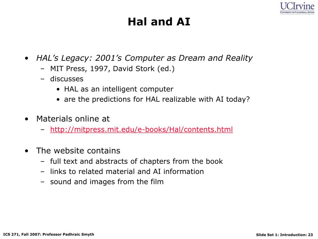 Hal and AI