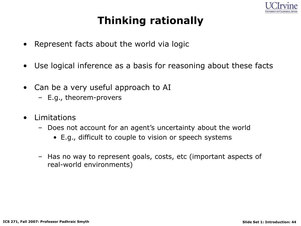 Thinking rationally