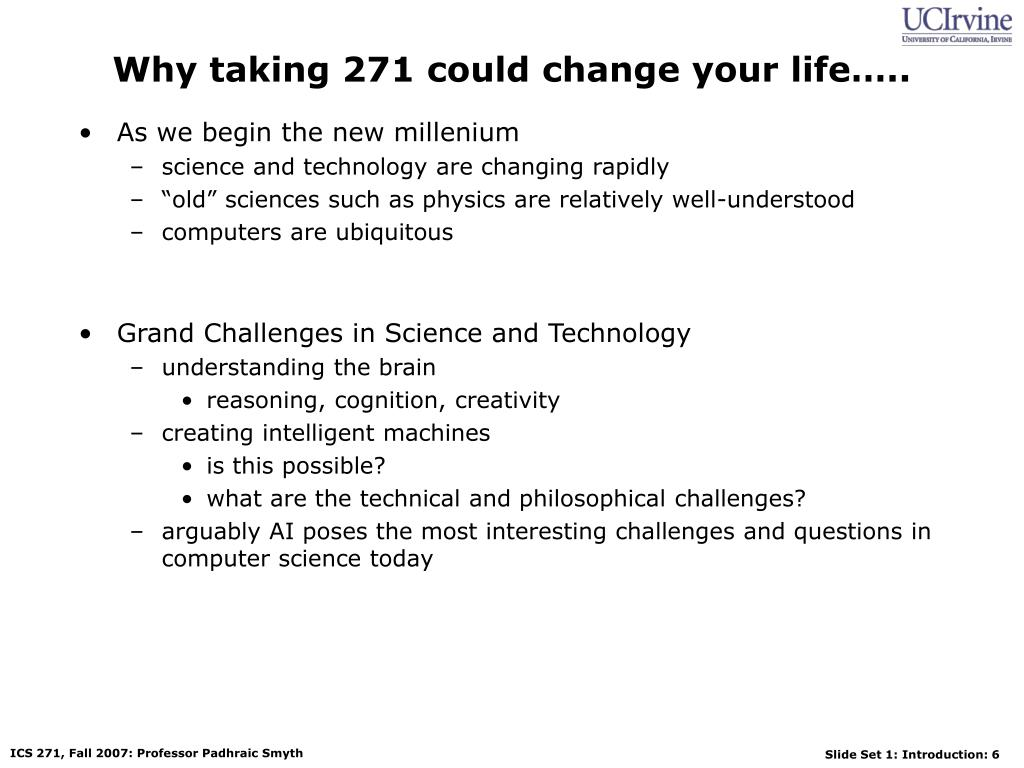 Why taking 271 could change your life…..
