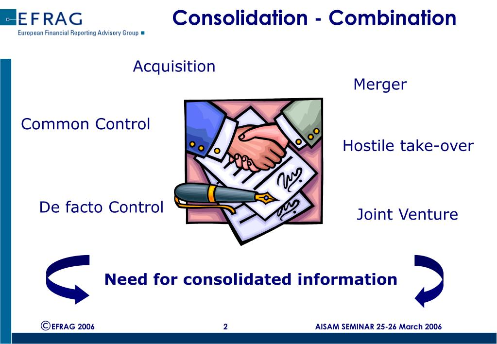 Consolidation - Combination