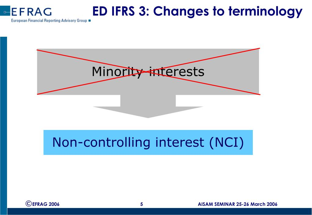 ED IFRS 3: Changes to terminology
