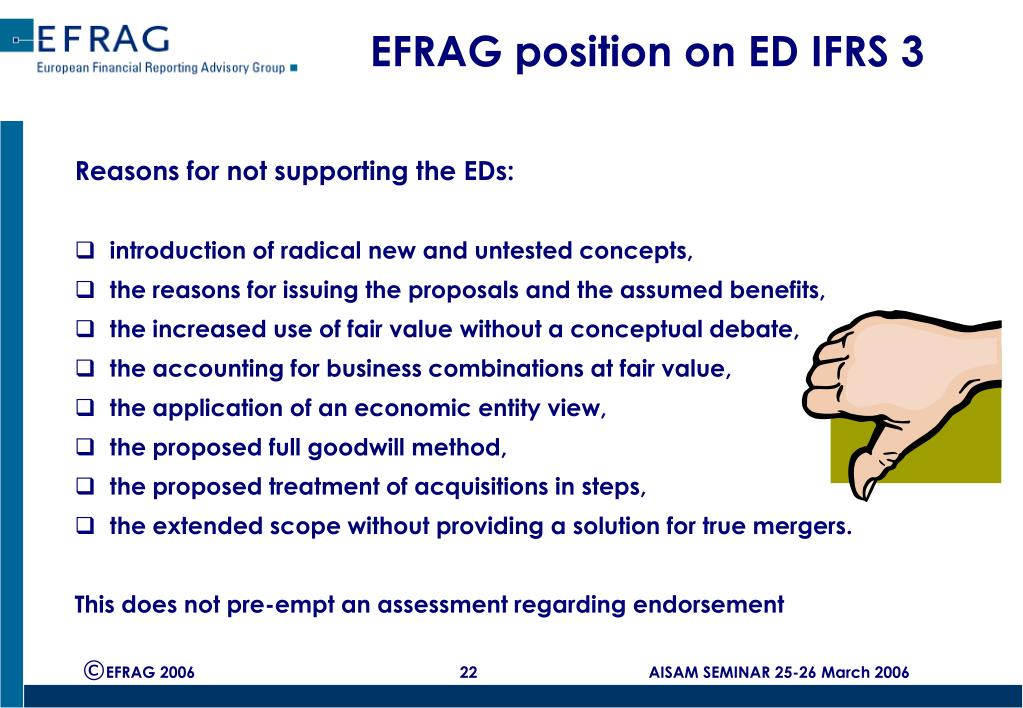 EFRAG position on ED IFRS 3