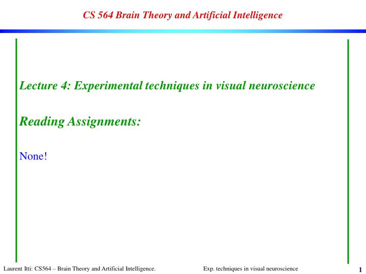 Cs 564 brain theory and artificial intelligence