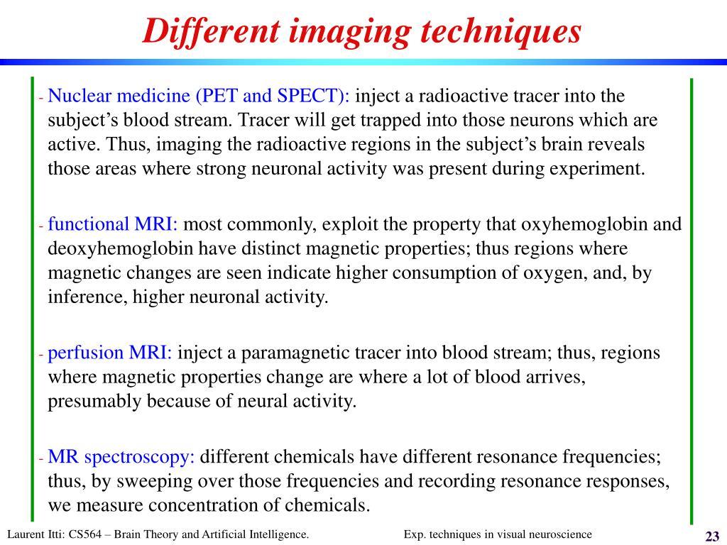 Different imaging techniques