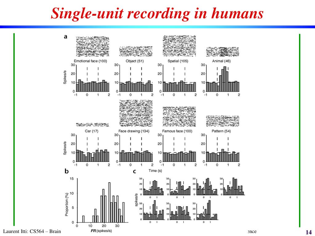 Single-unit recording in humans