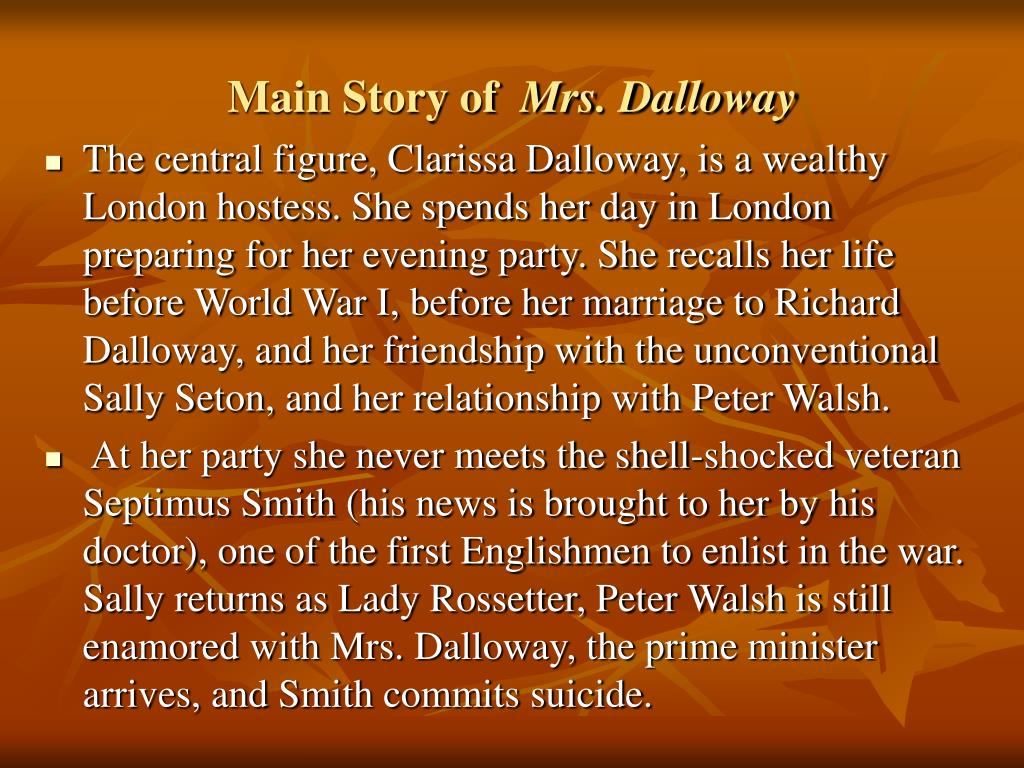 clarissa and richard dalloway relationship marketing