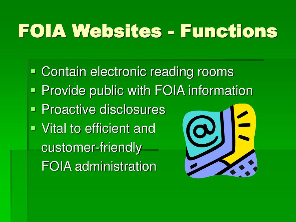 FOIA Websites - Functions