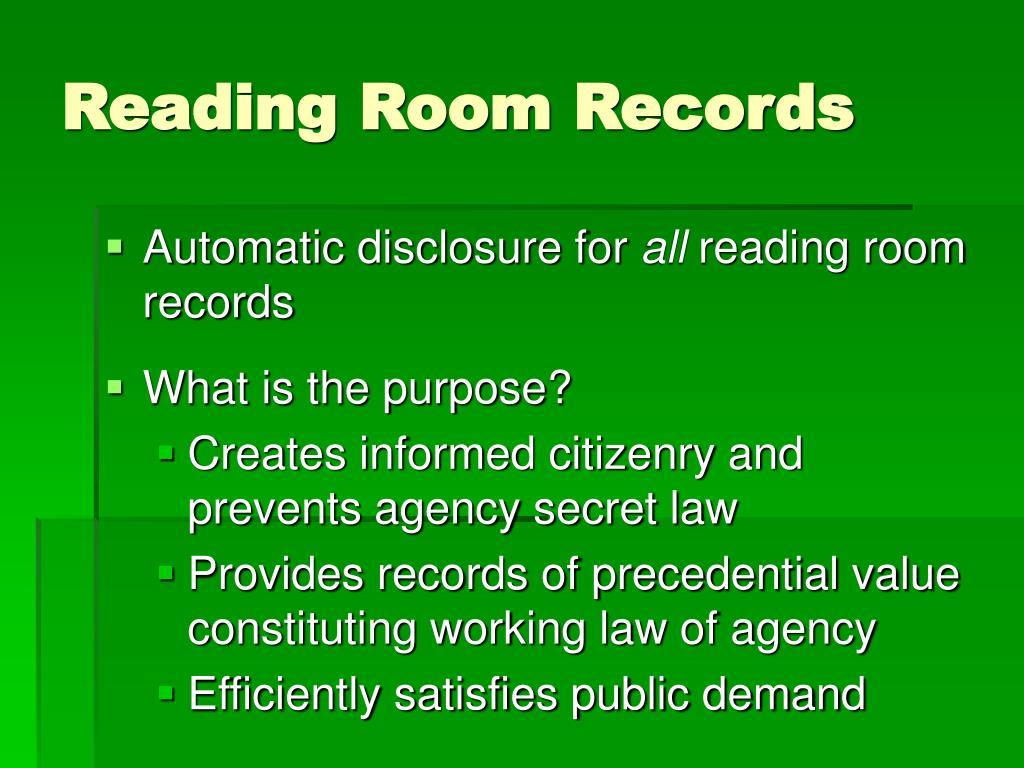 Reading Room Records