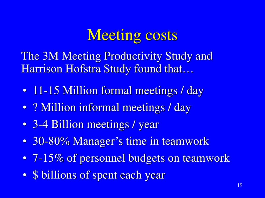 Meeting costs