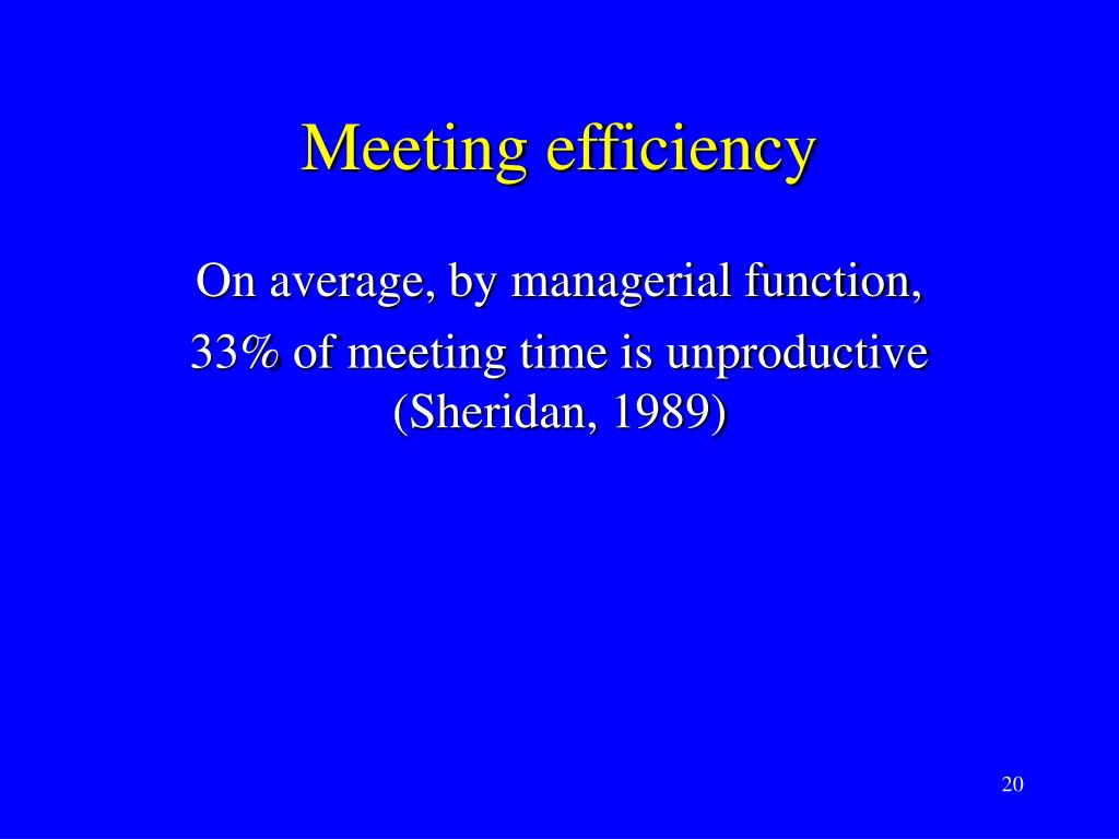 Meeting efficiency