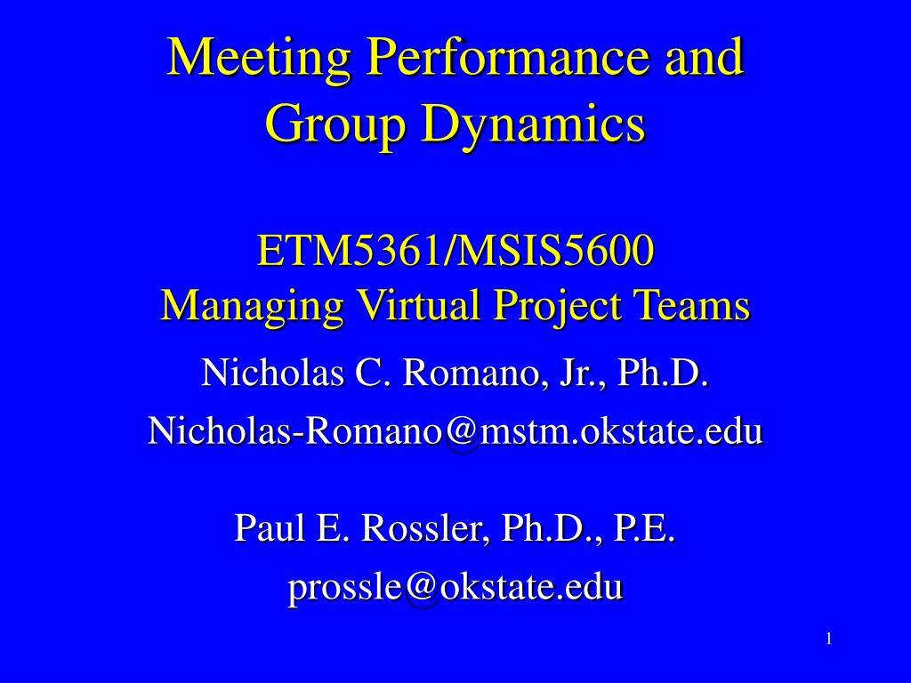 Meeting Performance and
