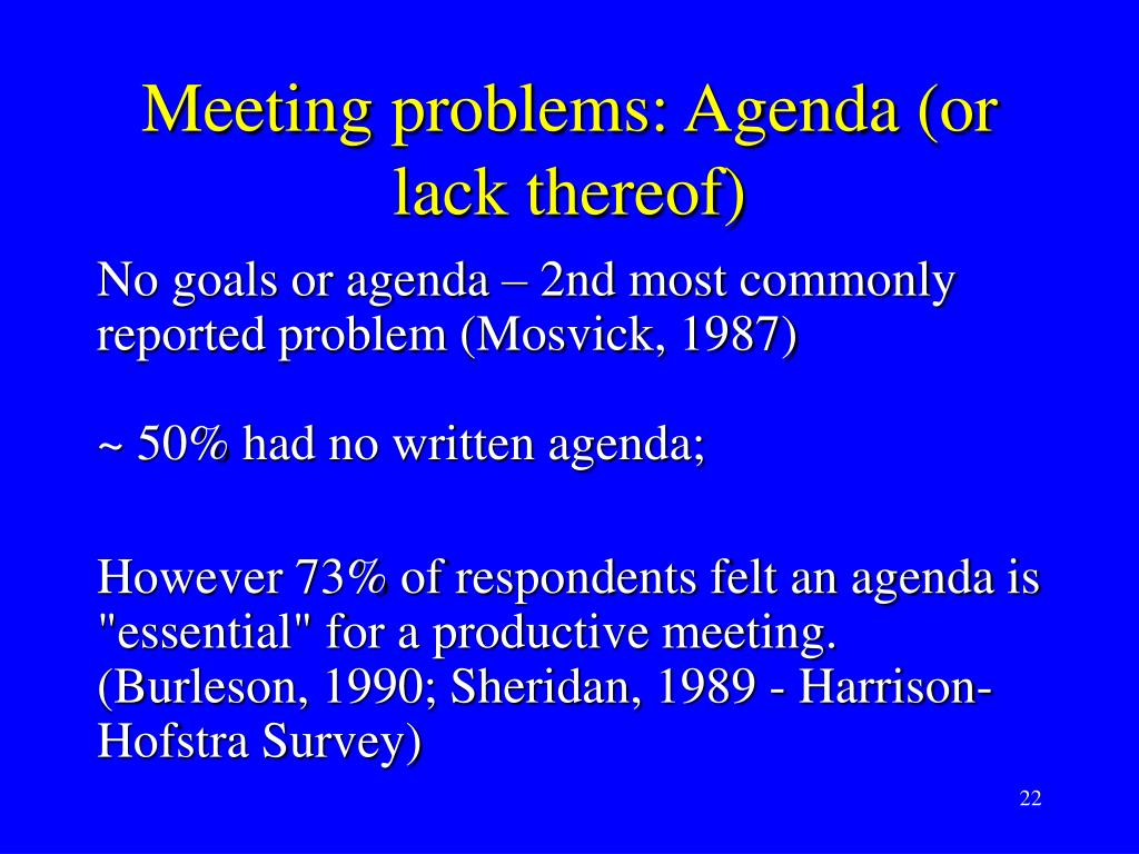 Meeting problems: Agenda (or lack thereof)