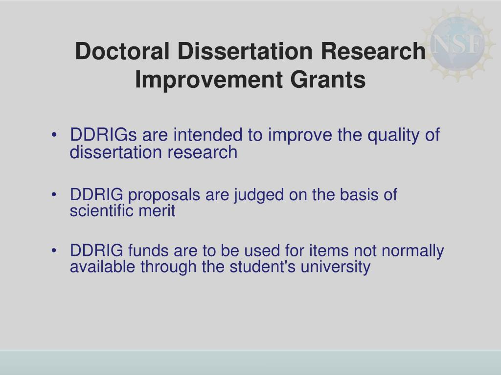 Doctoral Dissertation Research Improvement Grants