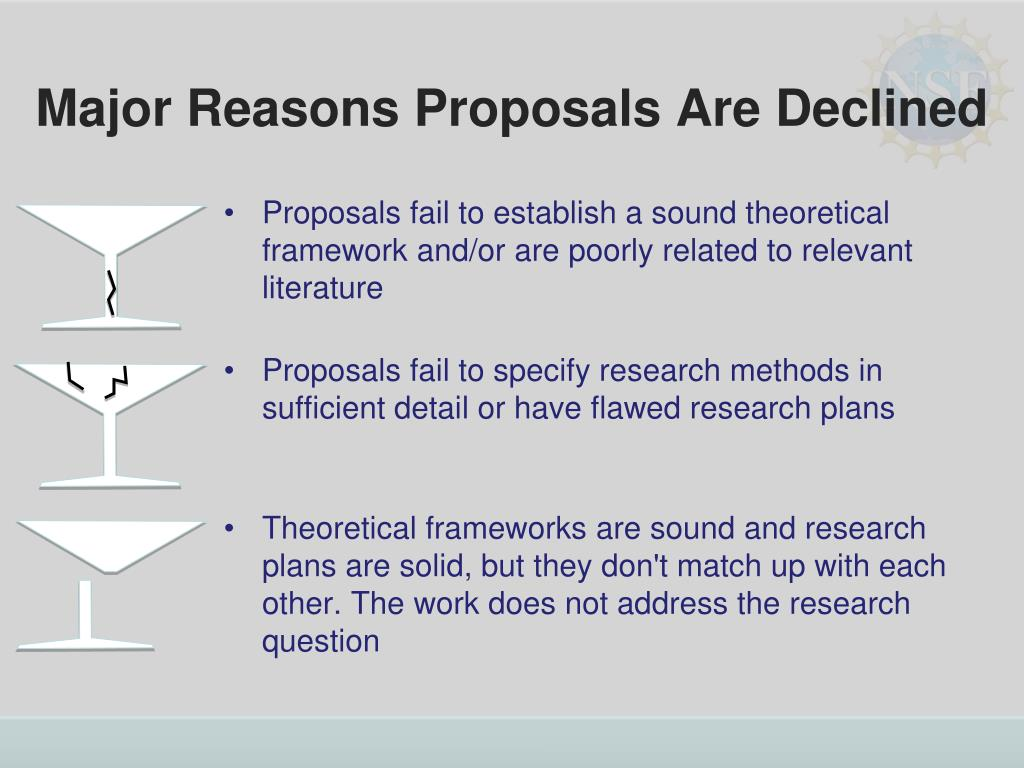 Major Reasons Proposals Are Declined