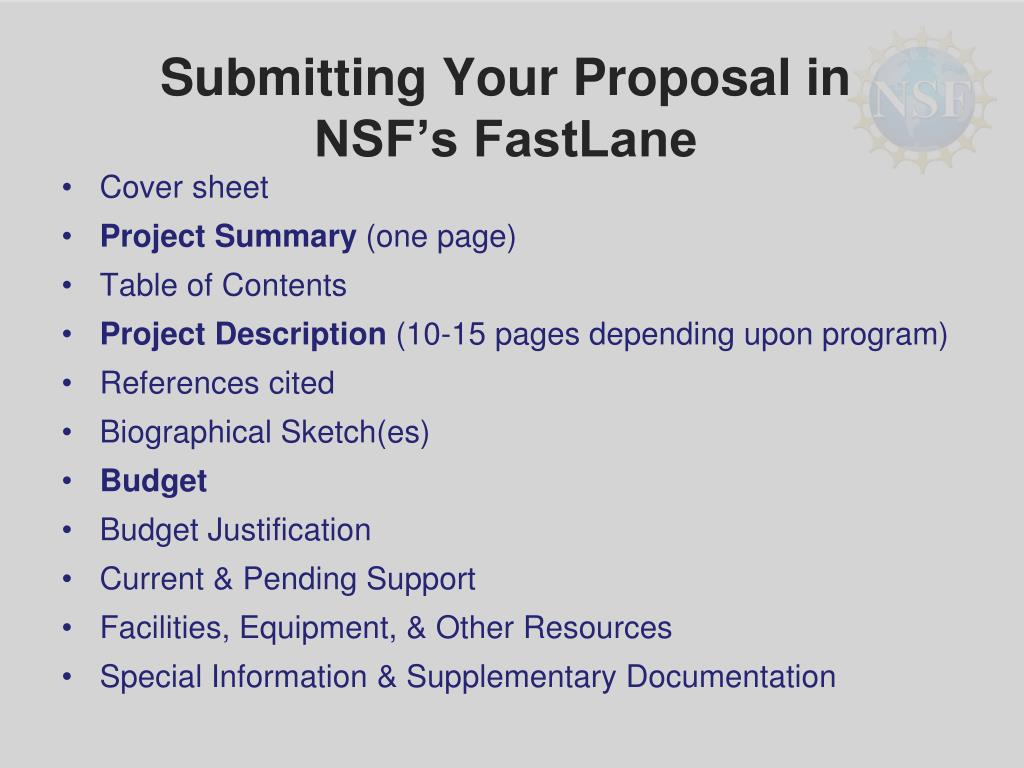 Submitting Your Proposal in