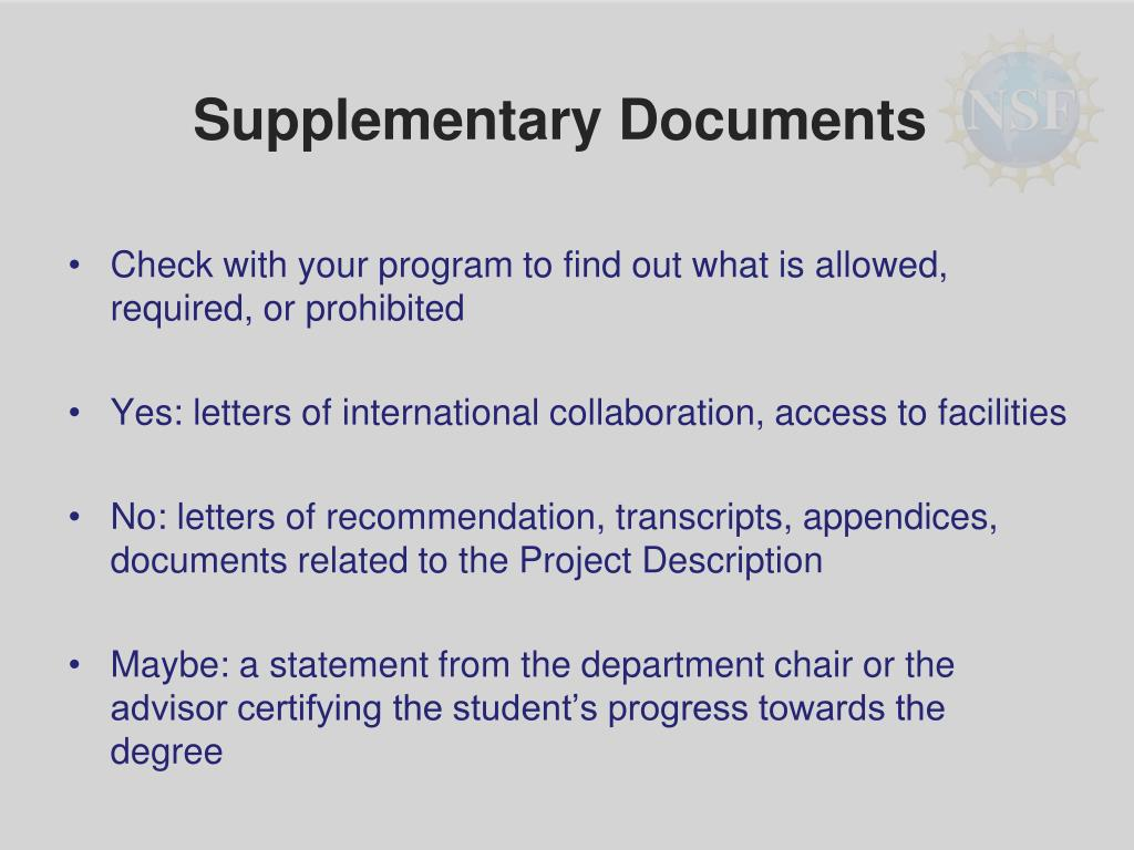 Supplementary Documents