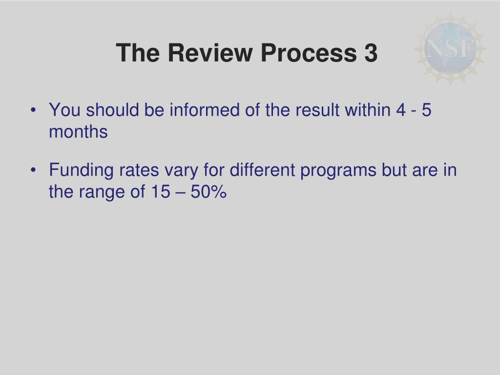 The Review Process 3