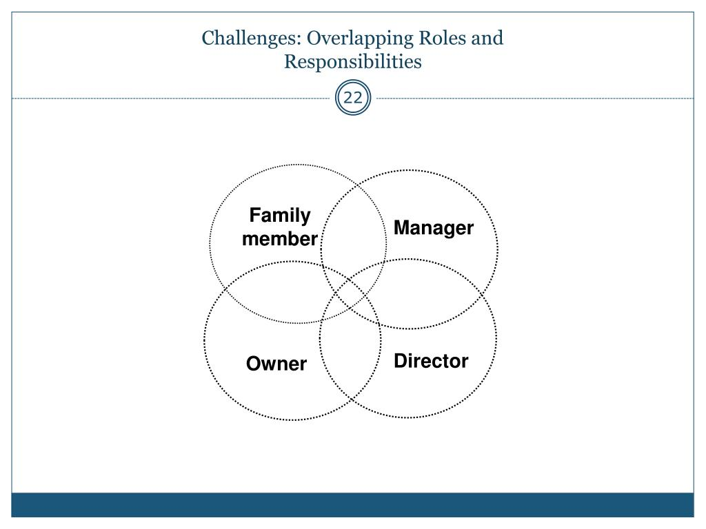 Challenges: Overlapping Roles and