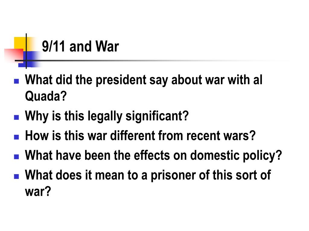 9/11 and War