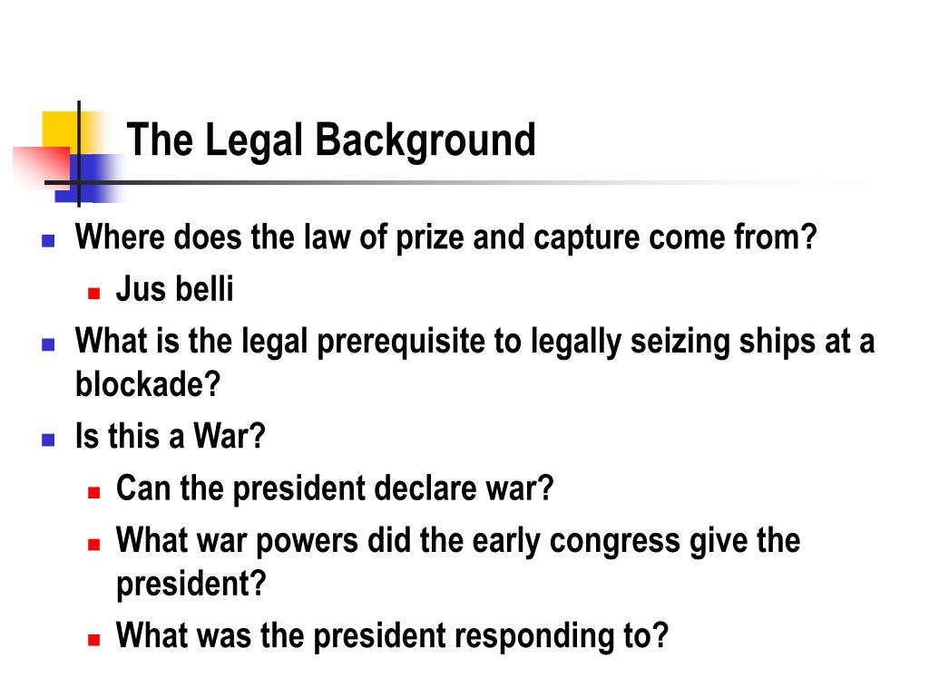 The Legal Background
