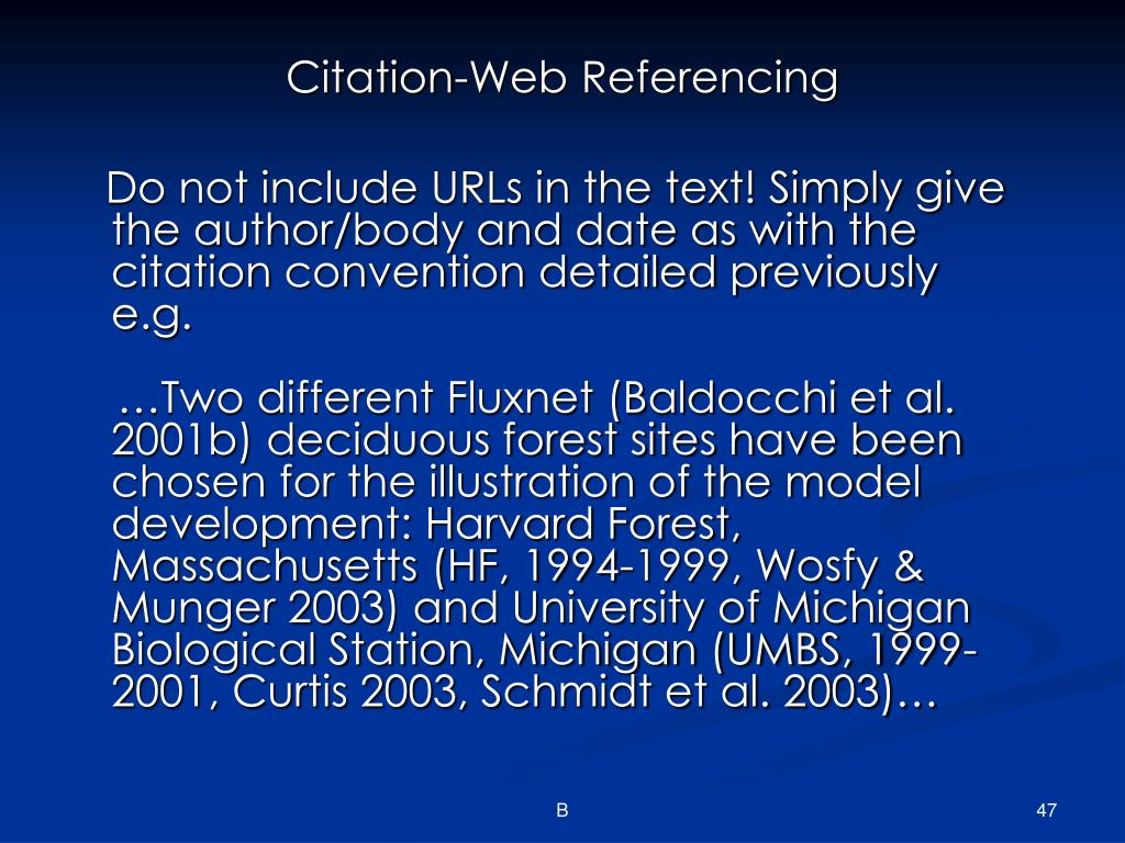 Citation-Web Referencing