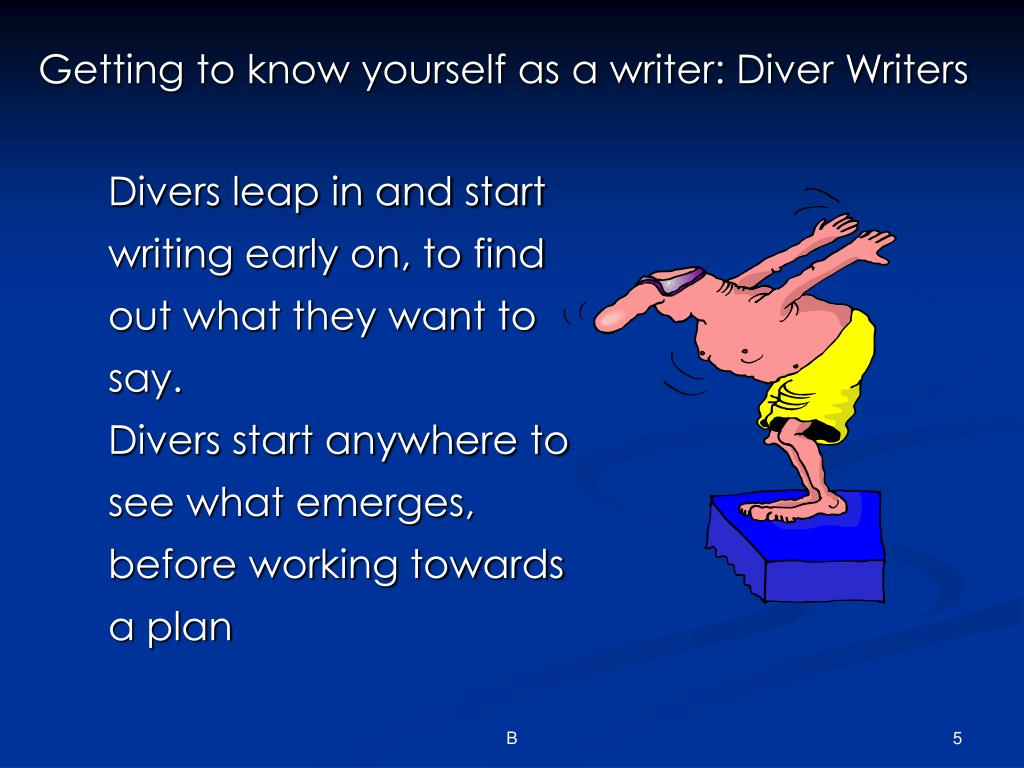 Getting to know yourself as a writer: Diver Writers
